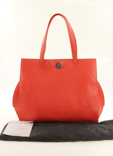 BVLGARI Tote in Red Image 11