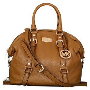 Michael Kors Bedford Medium Satchel in Luggage Brown