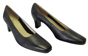Ros Hommerson Leather Size 8.50 Narrow Excellent Condition Black Pumps