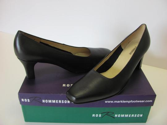 Ros Hommerson Leather Size 8.50 Narrow Excellent Condition Black Pumps Image 2