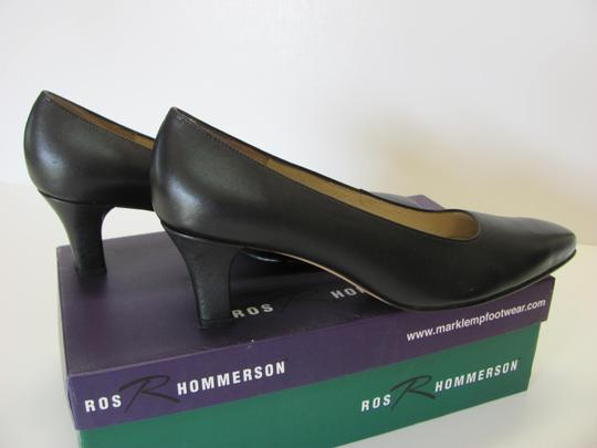 Ros Hommerson Leather Size 8.50 Narrow Excellent Condition Black Pumps Image 4