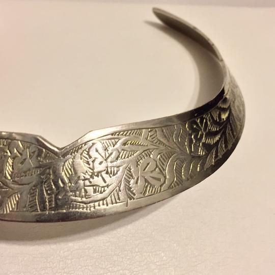 Other Handcrafted In India Metal Cuff Choker Necklace Ornate Image 1