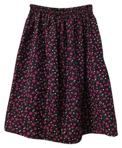 Other Vintage Floral Above Knee Skirt black