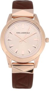 Karl Lagerfeld KARL LAGERFELD Men's LaBelle Stud Two Hand Leather Watch KL3803