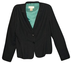 Susan Bristol Woven Warm Stretchy Classic Navy & Turquoise Blue Blazer