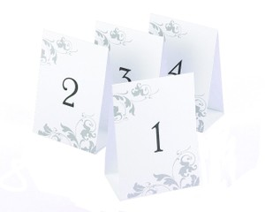 Wedding Tent Style Table Numbers 1 Through 40 Flourish Design
