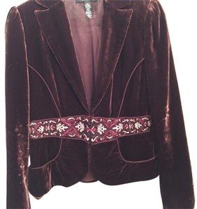 Laundry by Shelli Segal Burgundy Blazer