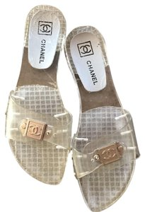 Chanel Clear/ Lucite/ Pvc Sandals