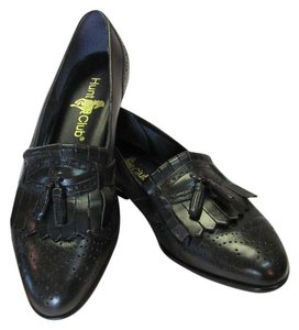 Hunt Club Leather Size 10.00 M Very Good Condition Black Flats