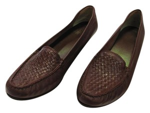 Trotters Leather Size 8.50 Slim Good Condition Brown Flats