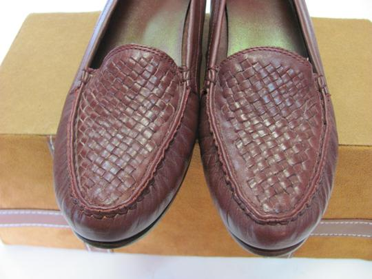 Trotters Leather Size 8.50 Slim Good Condition Brown Flats Image 2