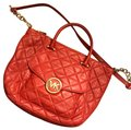 Michael Kors Leather Tote in Red Image 0