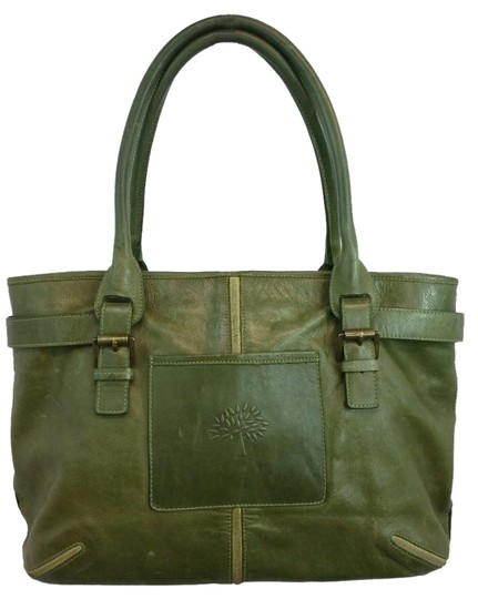 Preload https://img-static.tradesy.com/item/20128989/mulberry-green-leather-tote-0-1-540-540.jpg