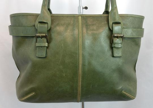 Mulberry Green Leather Tote Image 1