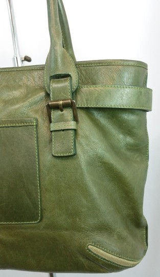 Mulberry Green Leather Tote Image 2