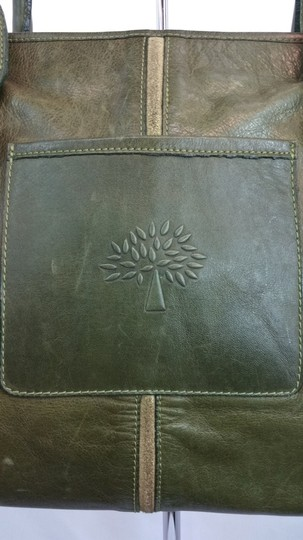 Mulberry Green Leather Tote Image 3