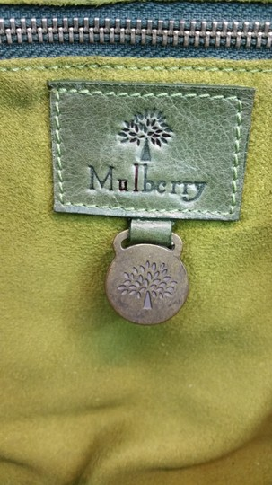 Mulberry Green Leather Tote Image 6
