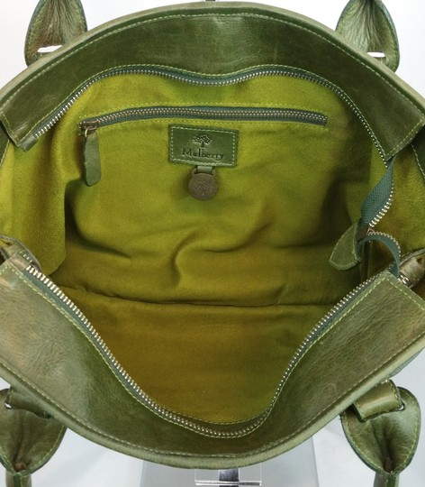 Mulberry Green Leather Tote Image 7