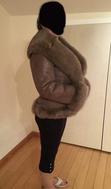Other Shearling Shawl Collar Fur Coat Image 2