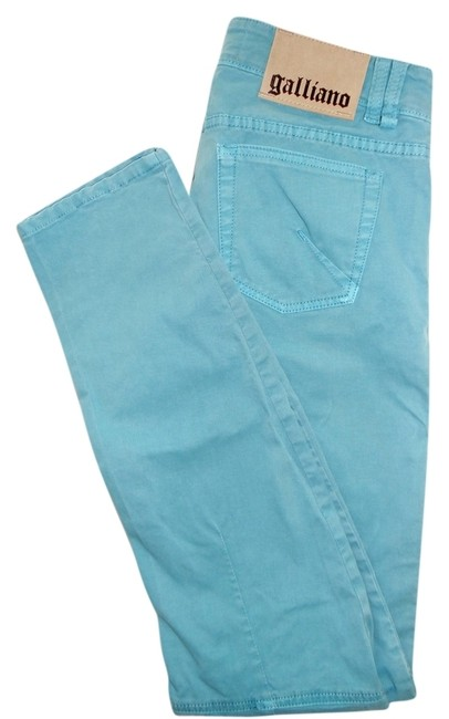 John Galliano Straight Leg Jeans-Medium Wash Image 1