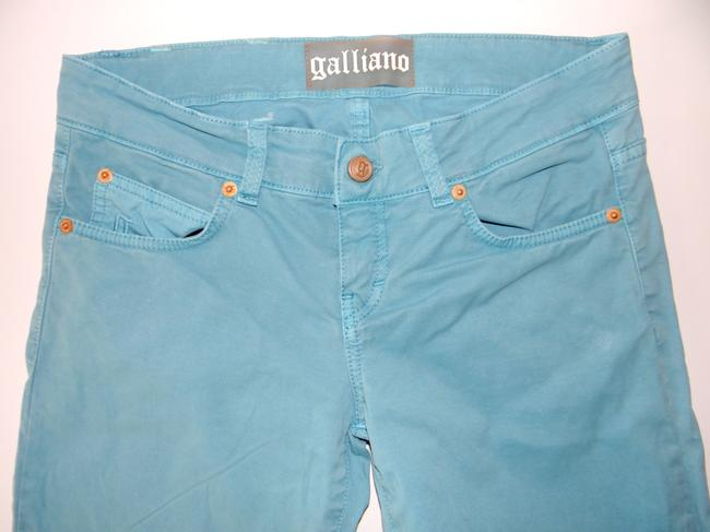 John Galliano Straight Leg Jeans-Medium Wash Image 3