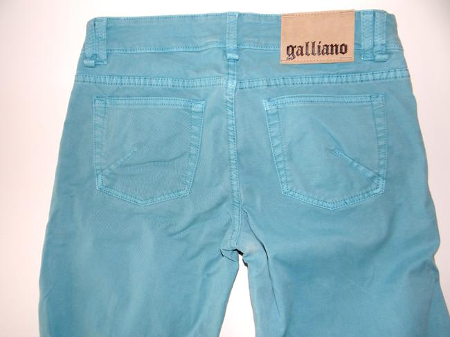 John Galliano Straight Leg Jeans-Medium Wash Image 4