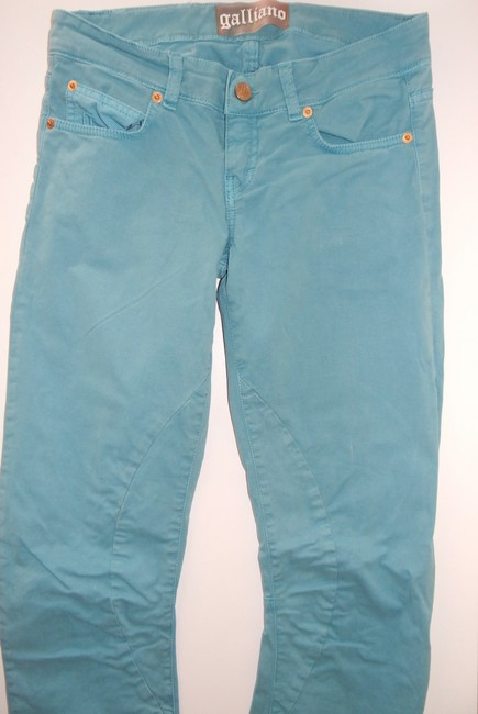 John Galliano Straight Leg Jeans-Medium Wash Image 5