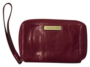 Cole Haan Wristlet in Beet Red