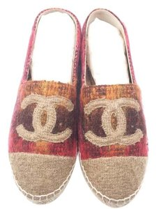 Chanel Beige, red Flats