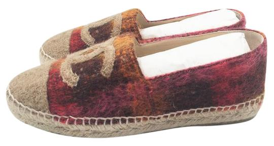 Chanel Beige, red Flats Image 1