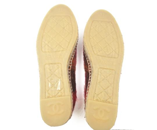 Chanel Beige, red Flats Image 4