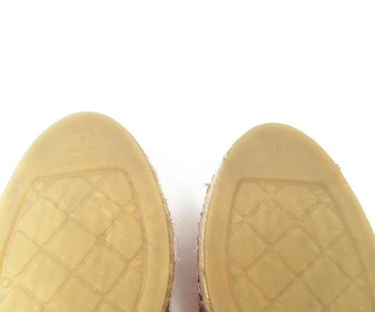 Chanel Beige, red Flats Image 5