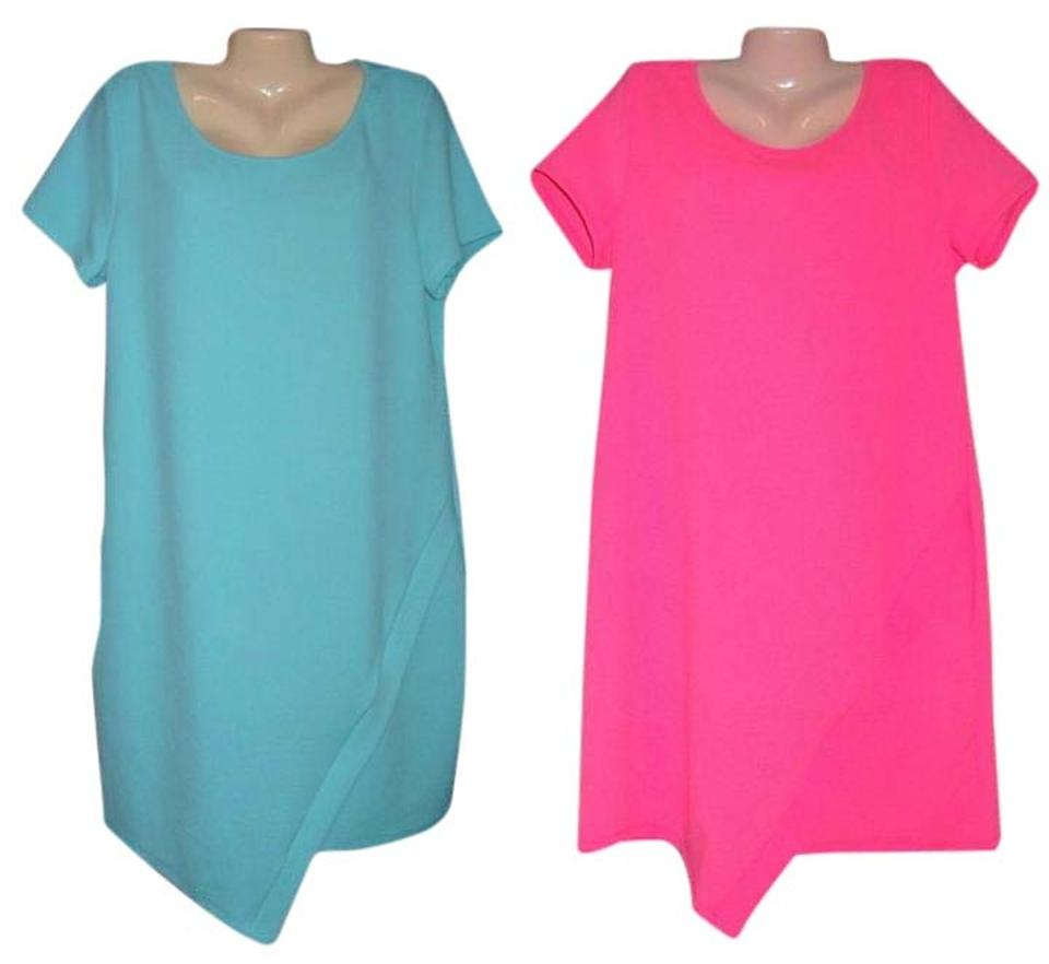 cd1d6aaaf823d Bobbie Brooks Pink Womens Lot Of 2 Blue Sleeve New Knee Length Short ...
