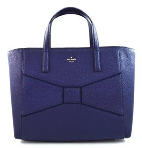 Kate Spade Leather Francisca Bridge Place Satchel in Blue