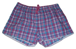 Bobbie Brooks Plus Size Plaid Pajamas Casual Purple Shorts