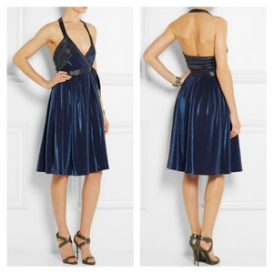 Diane von Furstenberg Dvf Wrap Metallic Nwt 70s Inspired Dress