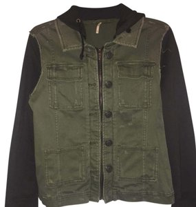 Free People Army green & black Womens Jean Jacket