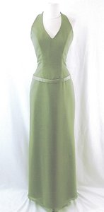 Raylia Designs Sage Green Chiffon Style 3846 Formal Bridesmaid/Mob Dress Size 6 (S)