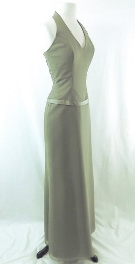 Raylia Designs Sage Green Chiffon Style 3846 Formal Bridesmaid/Mob Dress Size 6 (S) Image 3
