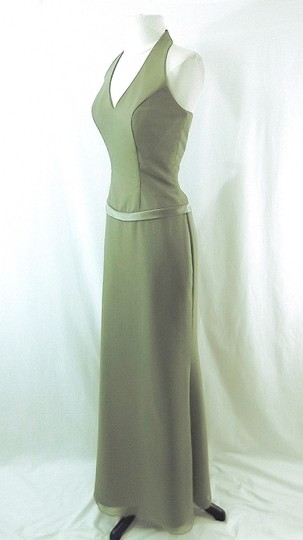 Raylia Designs Sage Green Chiffon Style 3846 Formal Bridesmaid/Mob Dress Size 6 (S) Image 5