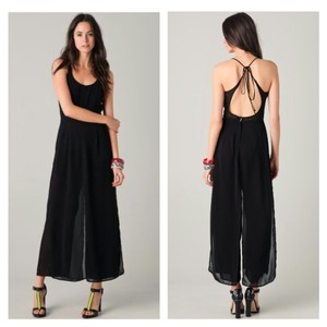 Opening Ceremony Jumpsuit Widelegged Chiffon Wide Leg Pants Black