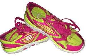 Skechers Pink And Yellow Athletic