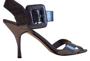 Ann Marino Metallic Grey Sandals