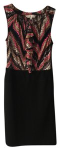 Missoni short dress Black with pink and black print on Tradesy