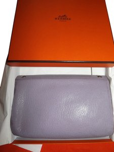 Hermès Hermes Karo Leather Cosmetic Case & Hermes Box RARE Lavender Color
