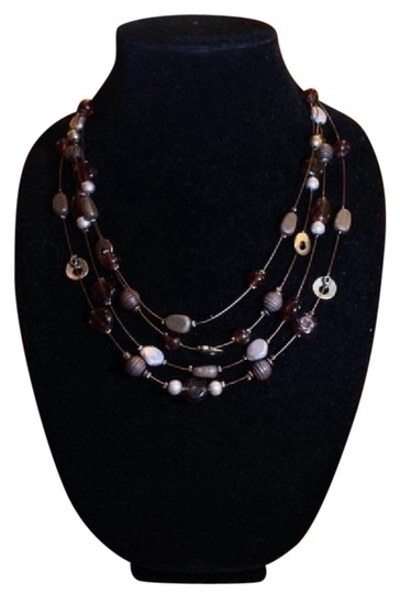 Preload https://img-static.tradesy.com/item/2013025/browns-stone-and-metal-charm-necklace-0-1-540-540.jpg