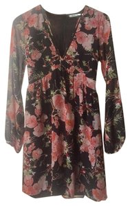 Kimchi Blue short dress Pink Long Sleeve Floral Chiffon Urban Outfitters on Tradesy