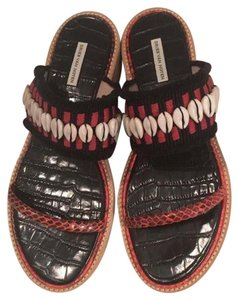 Dries van Noten Shell Red Black, red, white Sandals