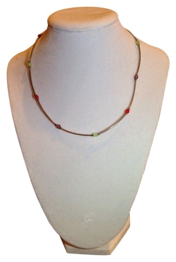 Preload https://img-static.tradesy.com/item/2013057/red-green-purple-silver-light-weight-summer-necklace-0-0-540-540.jpg