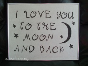 Silver with Black Lettering Love You To The Moon & Plaque Reception Decoration